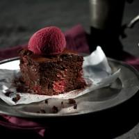 vegane kirsch brownies eis