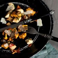 Kürbis Ricotta Gnocchi Trueffel Essen
