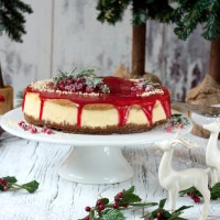 christmas cheesecake gluehweinglasur