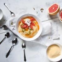 grapefruit polenta spoons