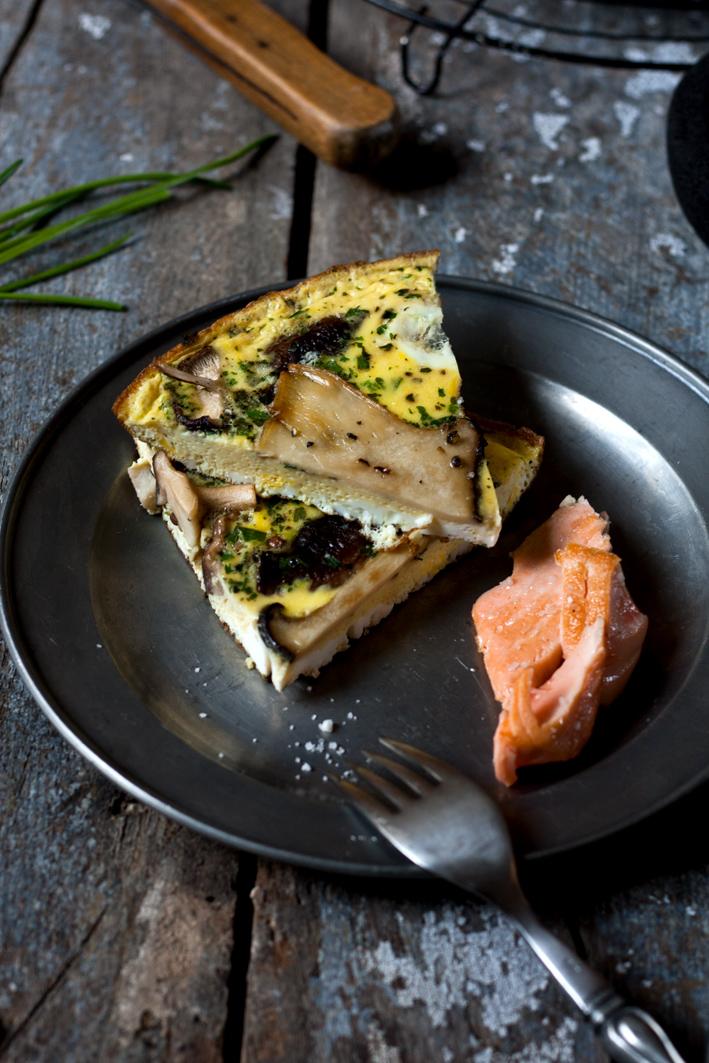 pilz omelette lachs stuecke