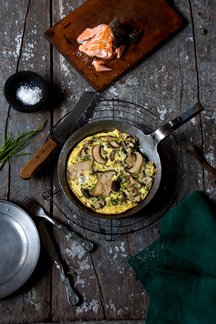 pilz omelette pfanne