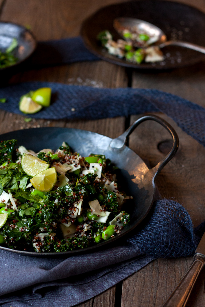 Quinoa Grünkohl Detox Salat Limette
