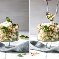 quinoa salat mit Erbsen und feta