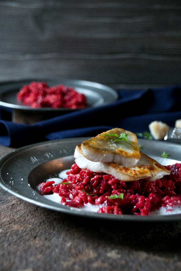 rote bete risotto fisch