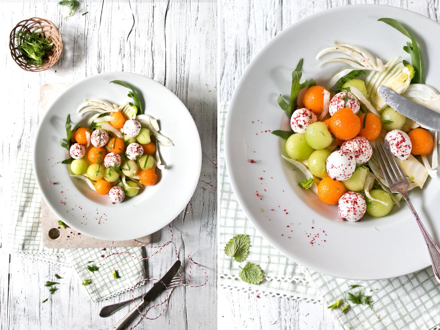 melonensalat mit ziegenkaese