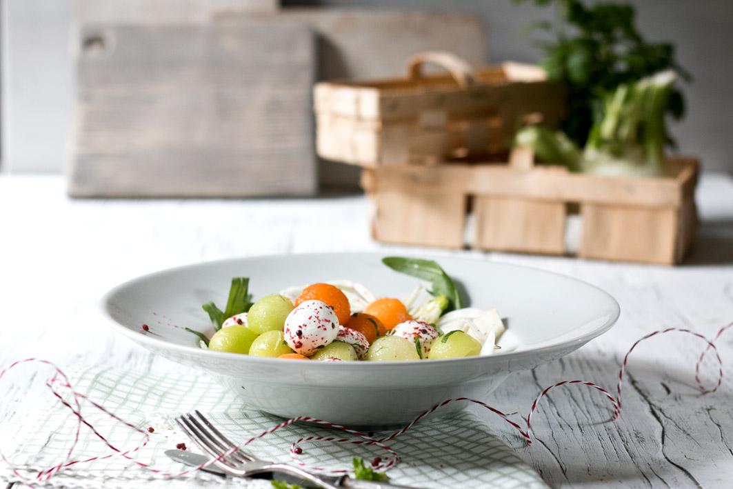 fenchel melonen salat