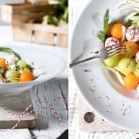 melonen ziegenkaese fenchel salat