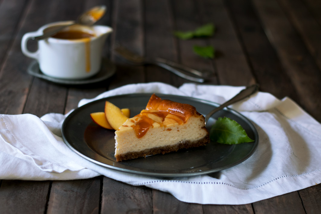 stueck aprikosen cheesecake