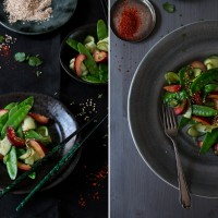 asiatischer zuckerschotensalat