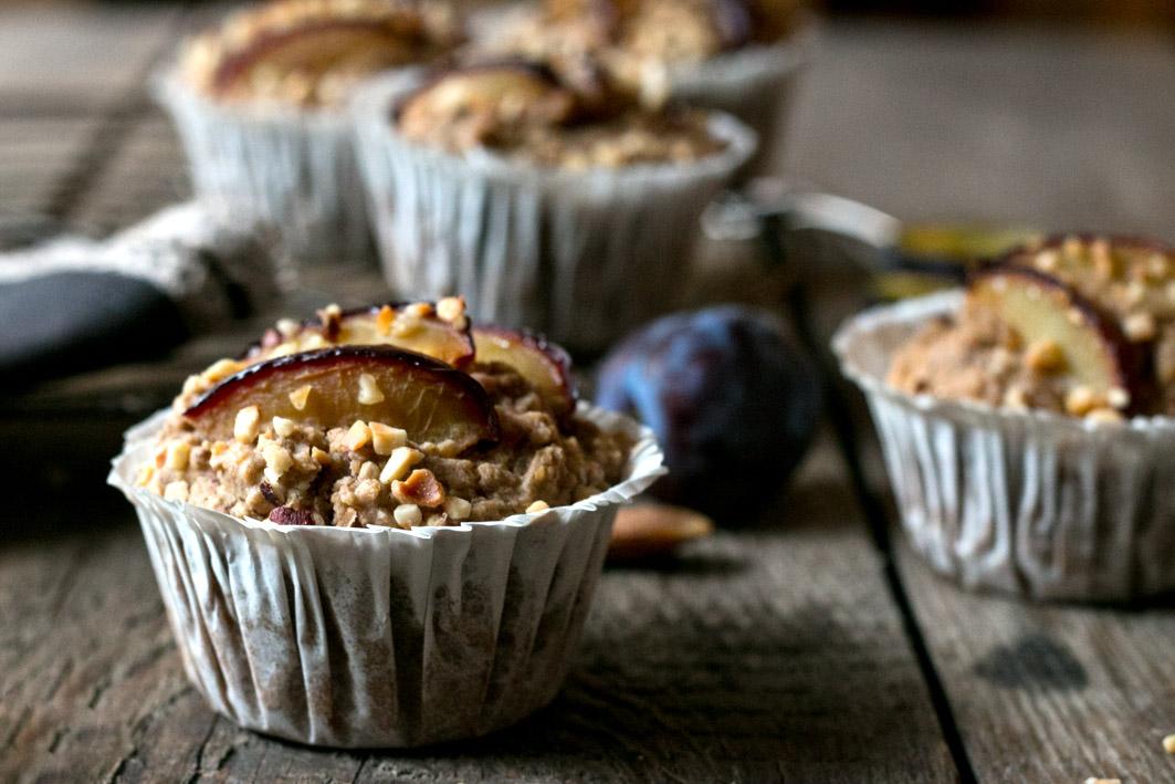 pflaumen hirse muffins