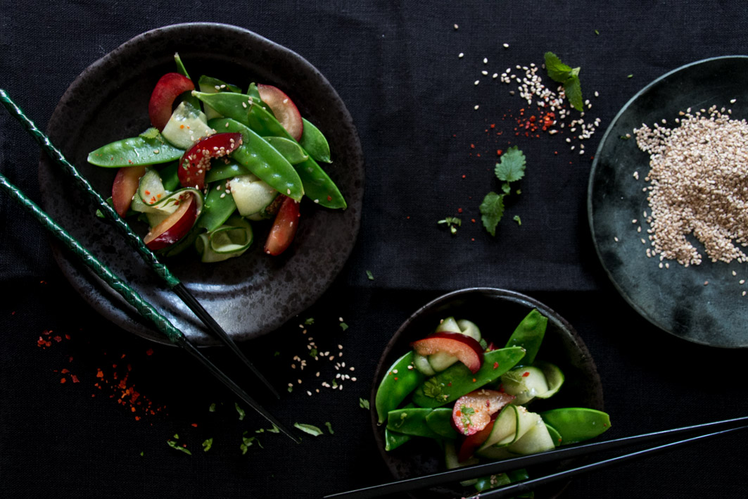 zuckerschotensalat pflaume