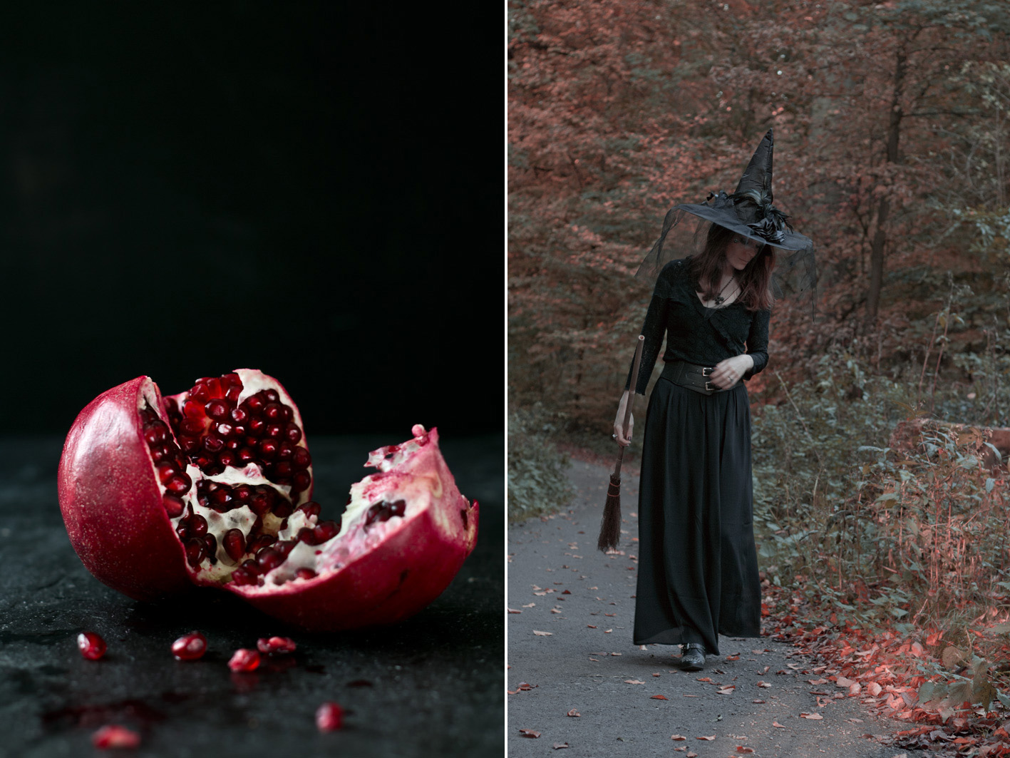 halloween Wald hexe
