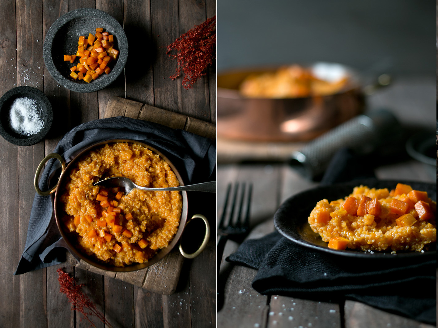 kuerbis risotto quinoa