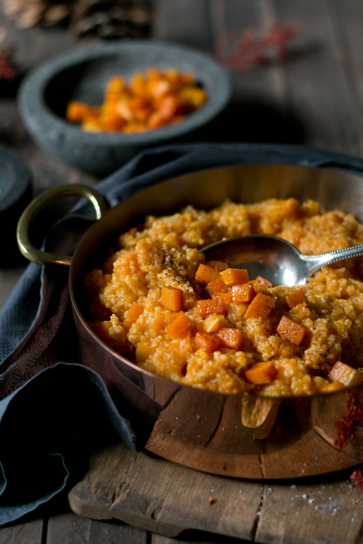 quinoa kürbis risotto