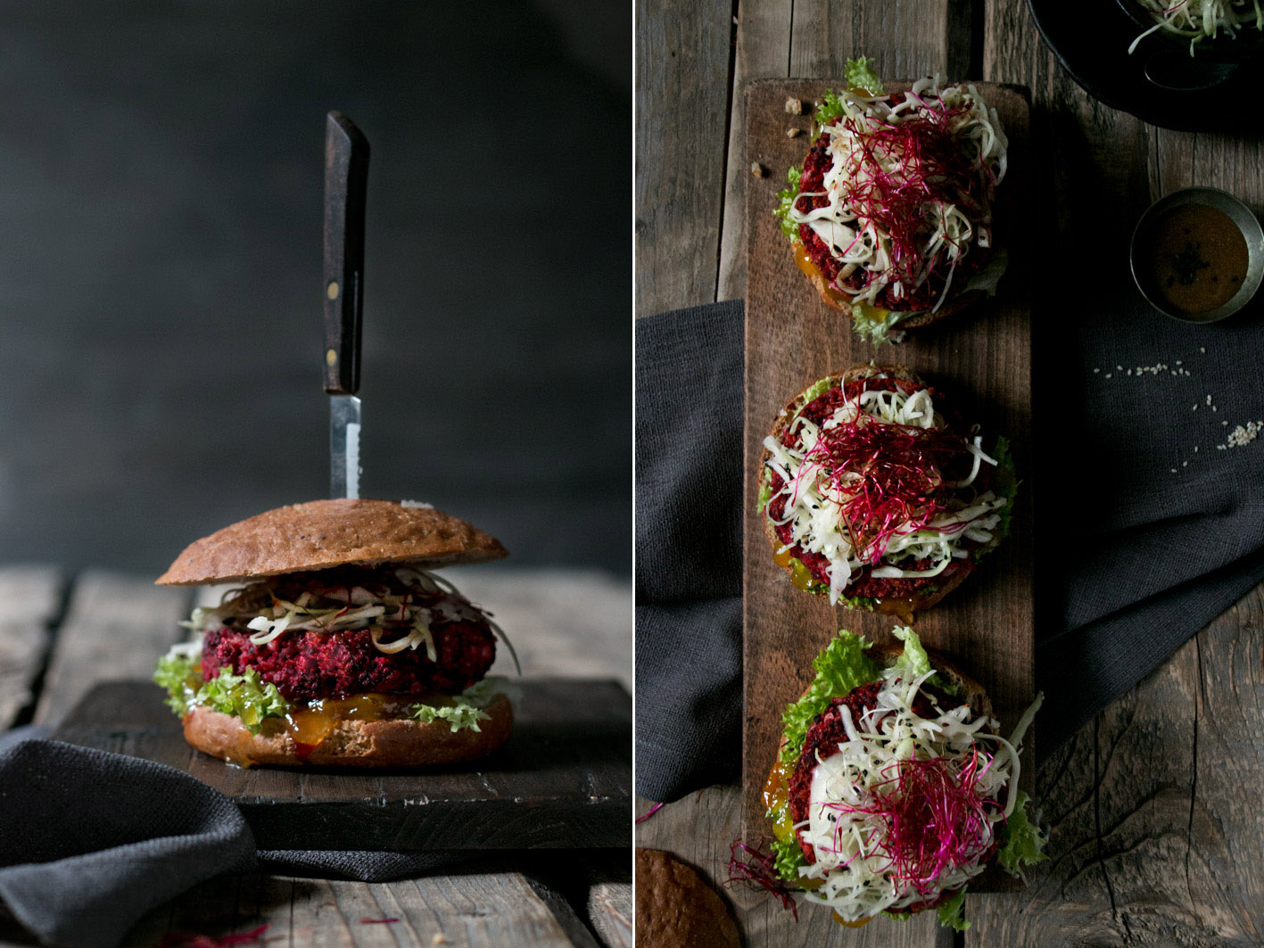 vegetarischer burger rote bete