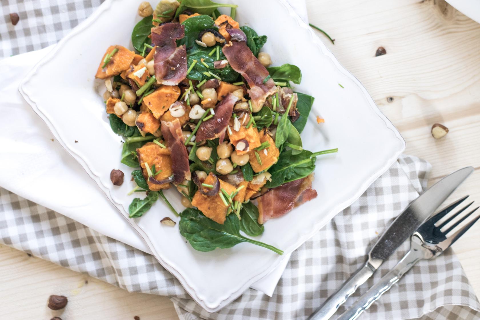 süßkartoffelsalat pancetta