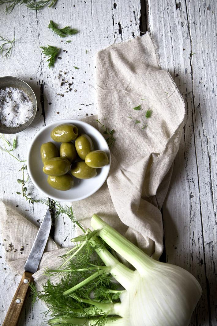 fenchel und oliven