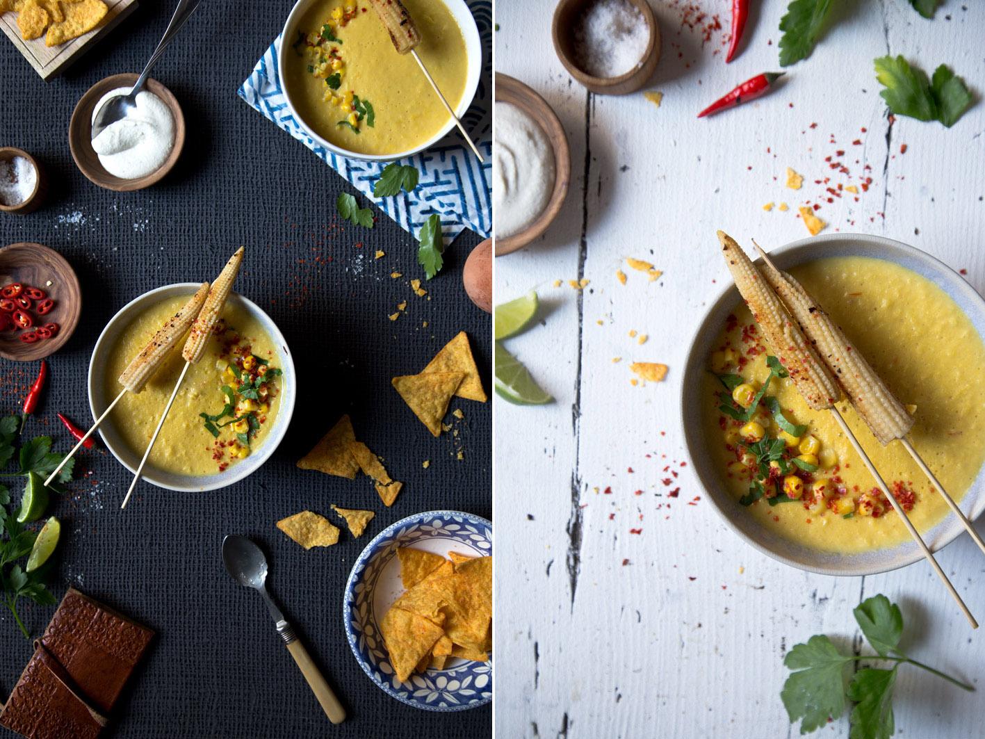 mexikanische suppe mit mais