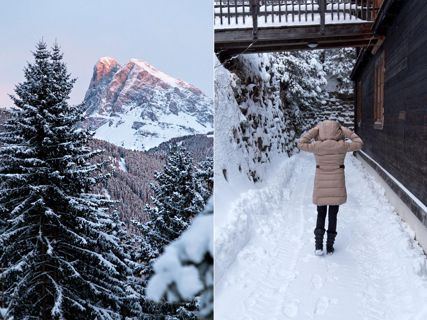wandern im schnee in südtirol