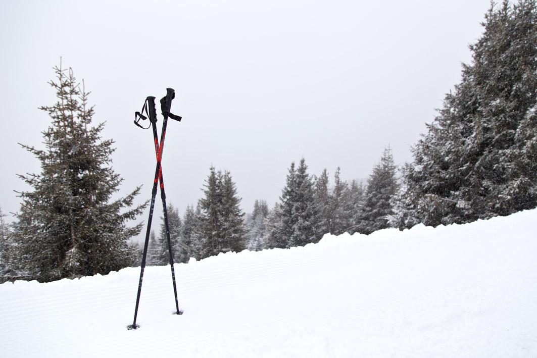 Skistöcke auf wanderung