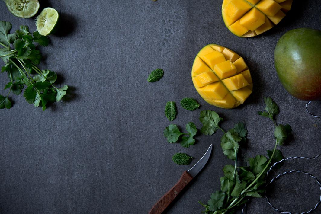 mango und koriander