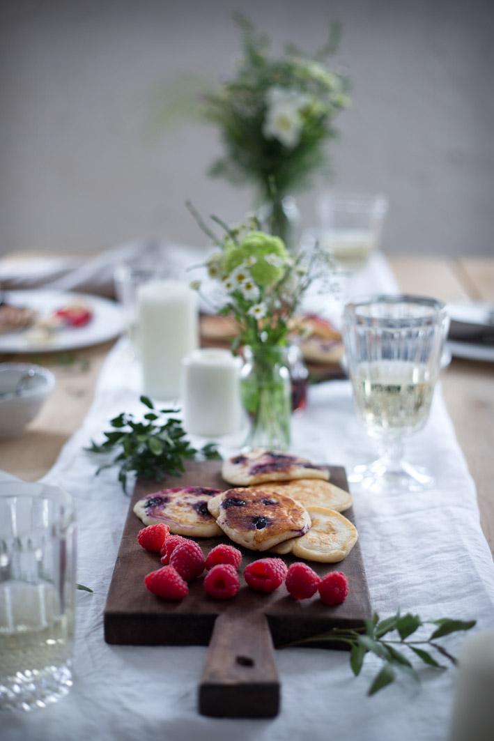 blaubeer ricotta pancakes