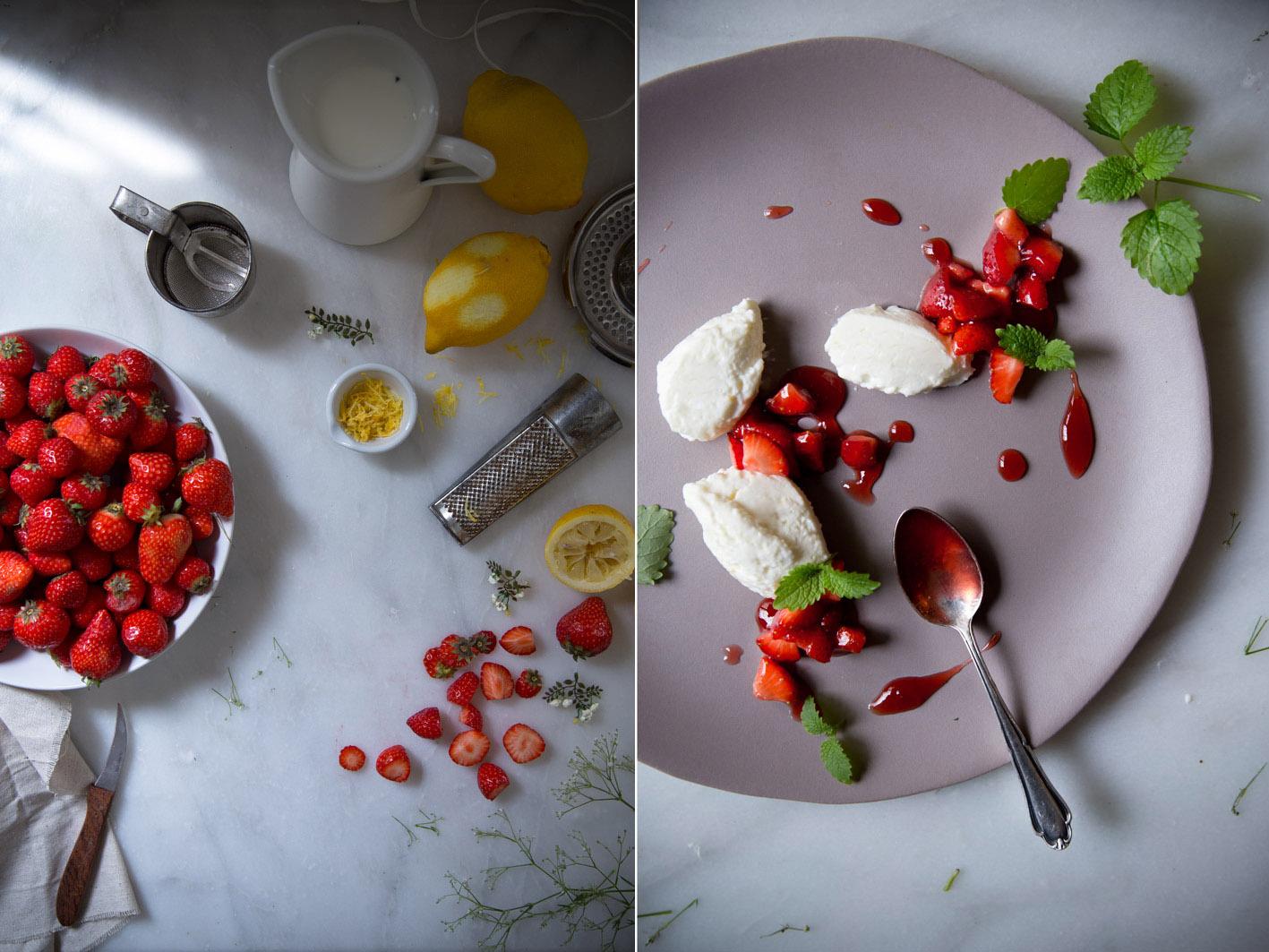 buttermilchmousse mit erdbeeren