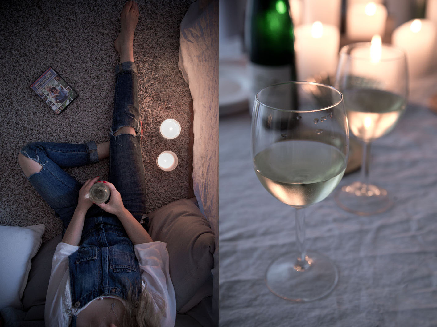 maedelsabend bei einem glas wein