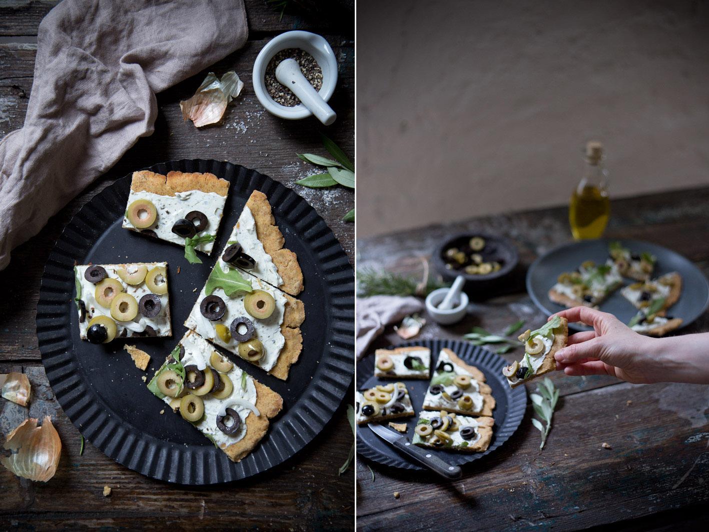 flammkuchen mit mediterranen kräutern