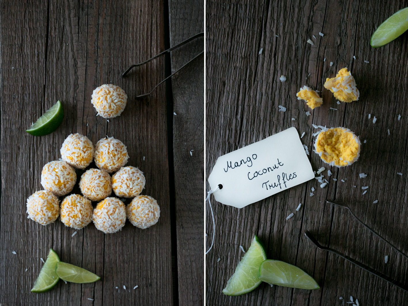 mango kokos pralinen