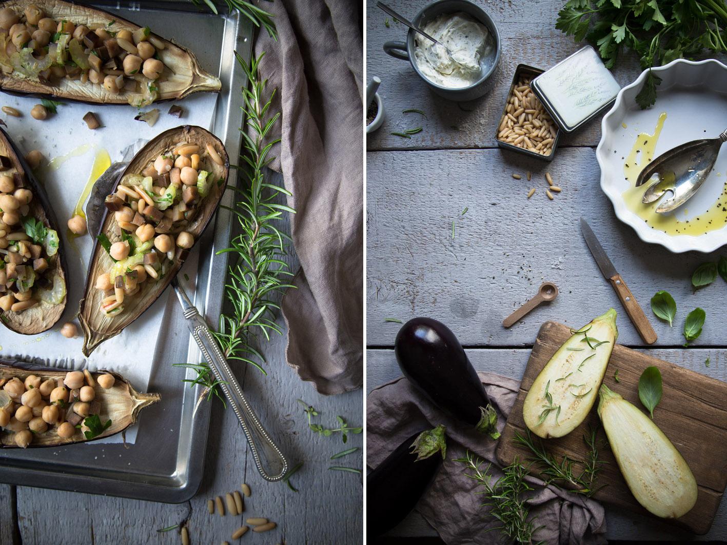gebackene aubergine vegetarisch