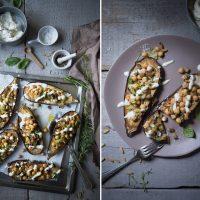 rezept für gefuellte aubergine