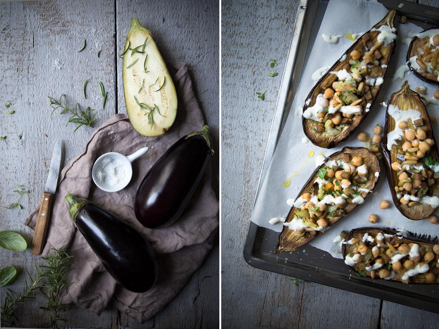 gefuellte aubergine zubereiten