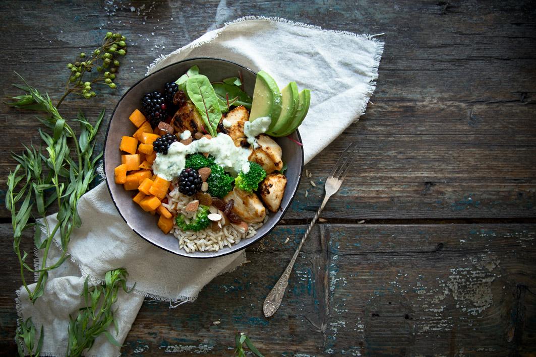 gesunde superfood bowl