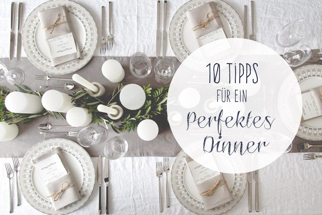 tipps für ein perfektes dinner