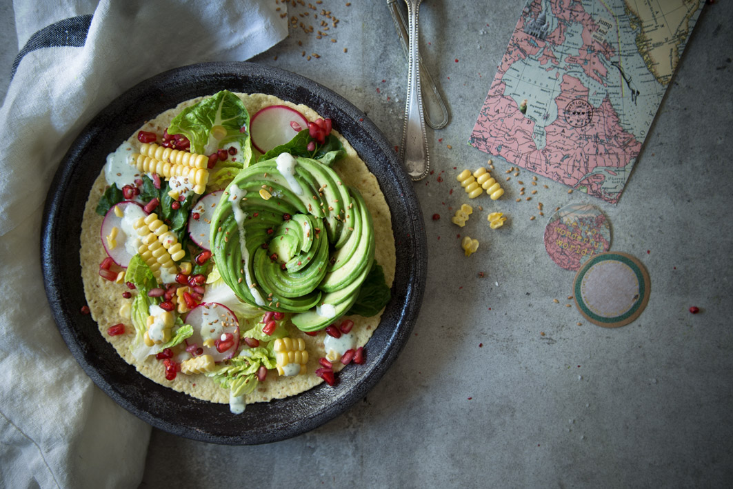 avocado rose salat