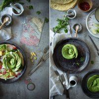 salat mit avocado rose