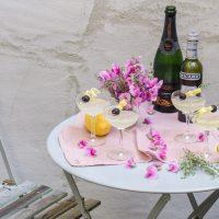 franzoesischer cocktail mit champagner