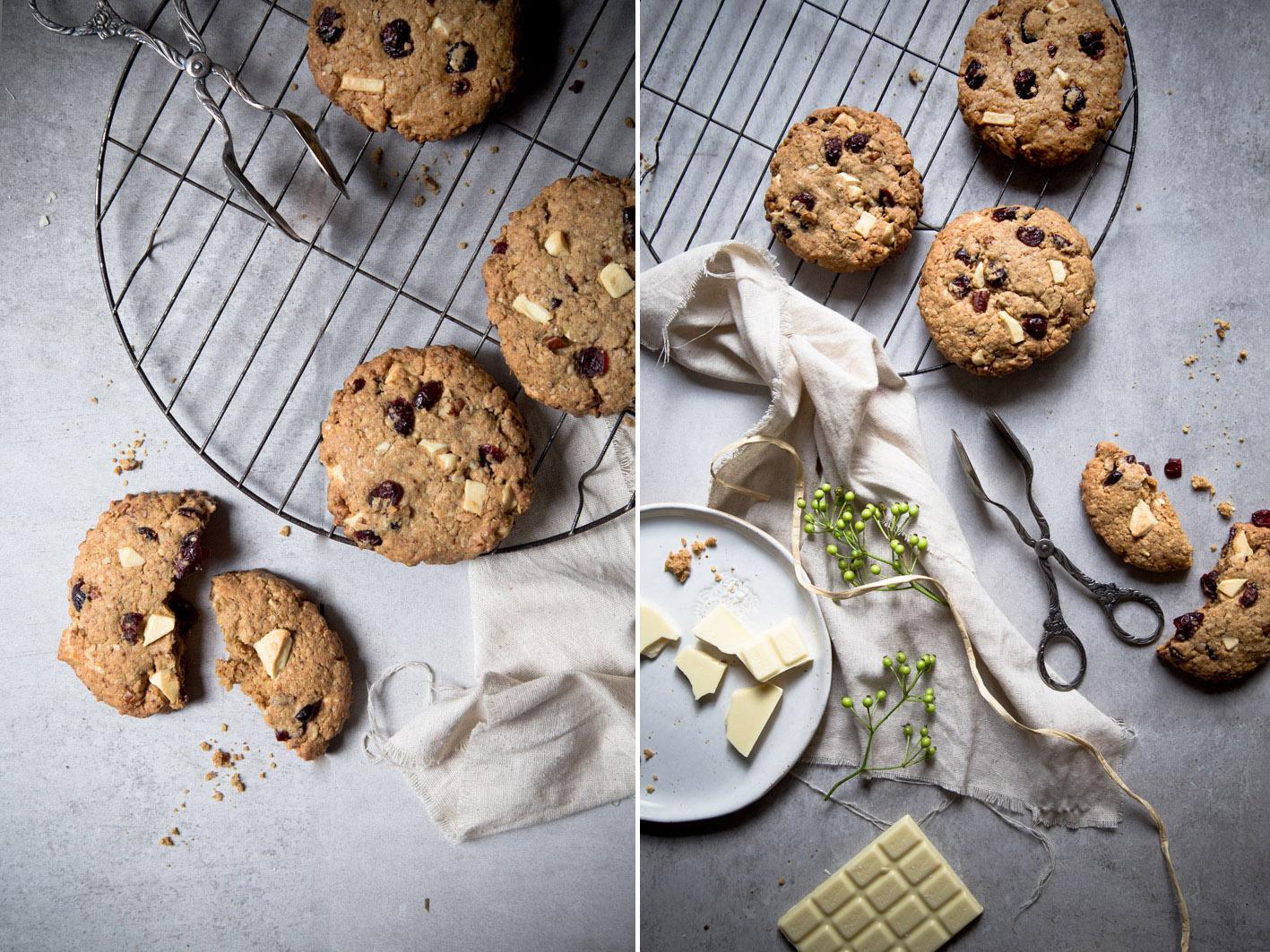 haferflocken cookies weiße schokolade