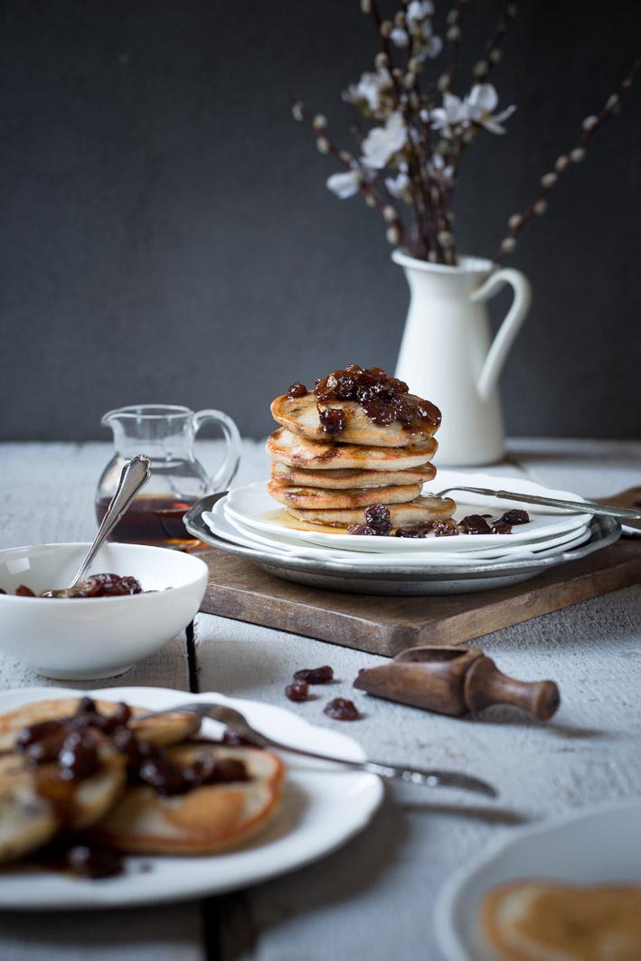 buchweizenpancakes mit rosinen