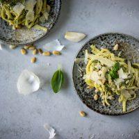 rezept für pasta mit basilikumpesto