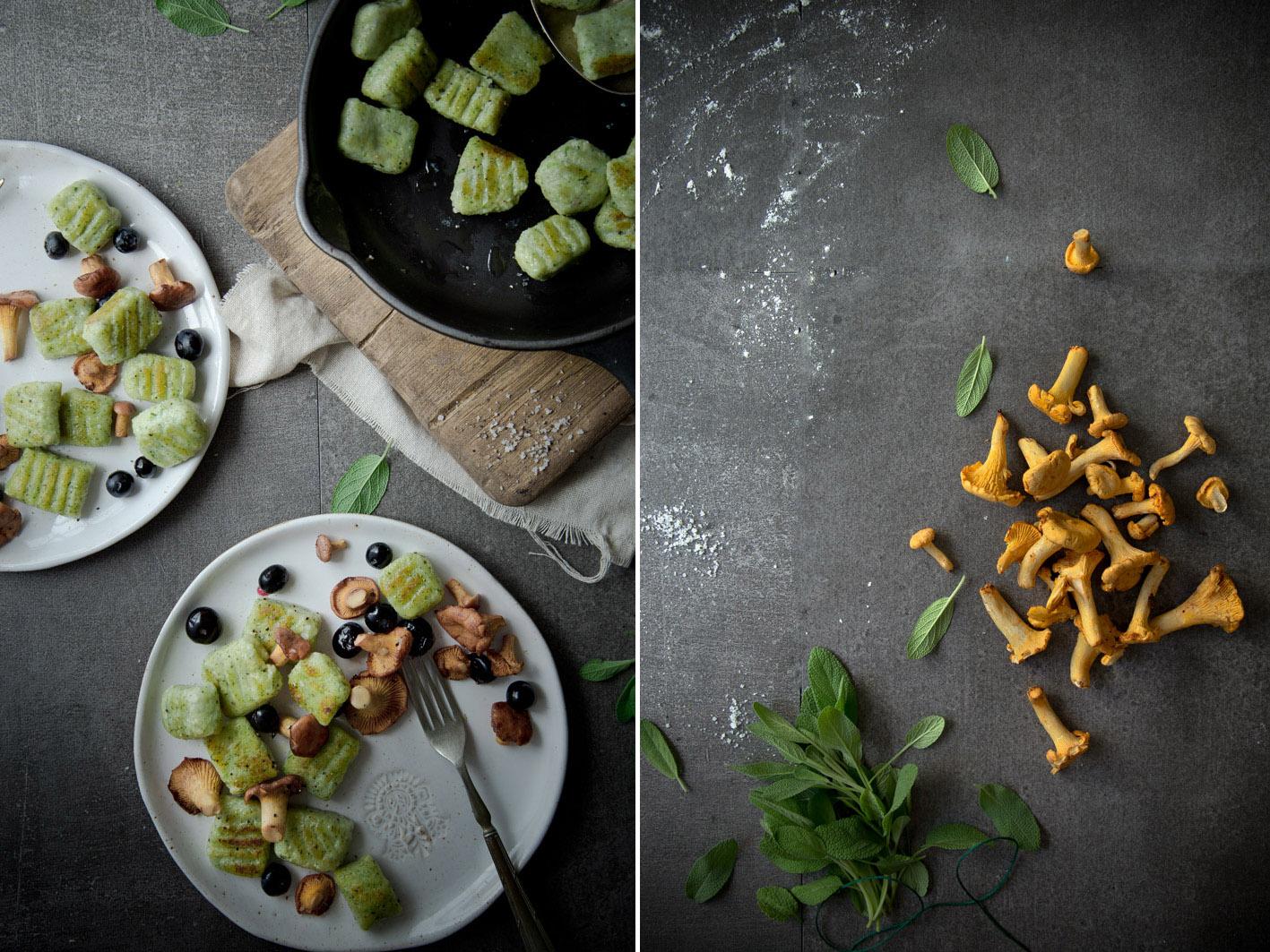 salbeignocchi mit pilzen