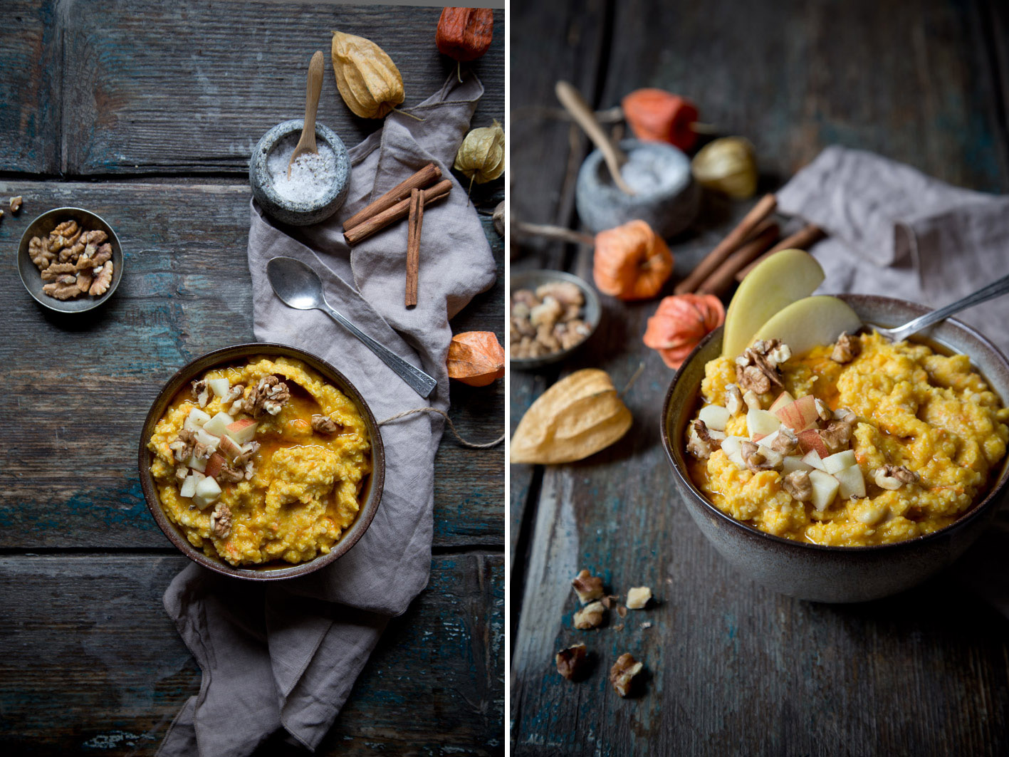 kürbis porridge frühstück