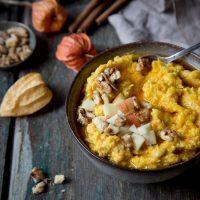 warmer porridge mit kürbis