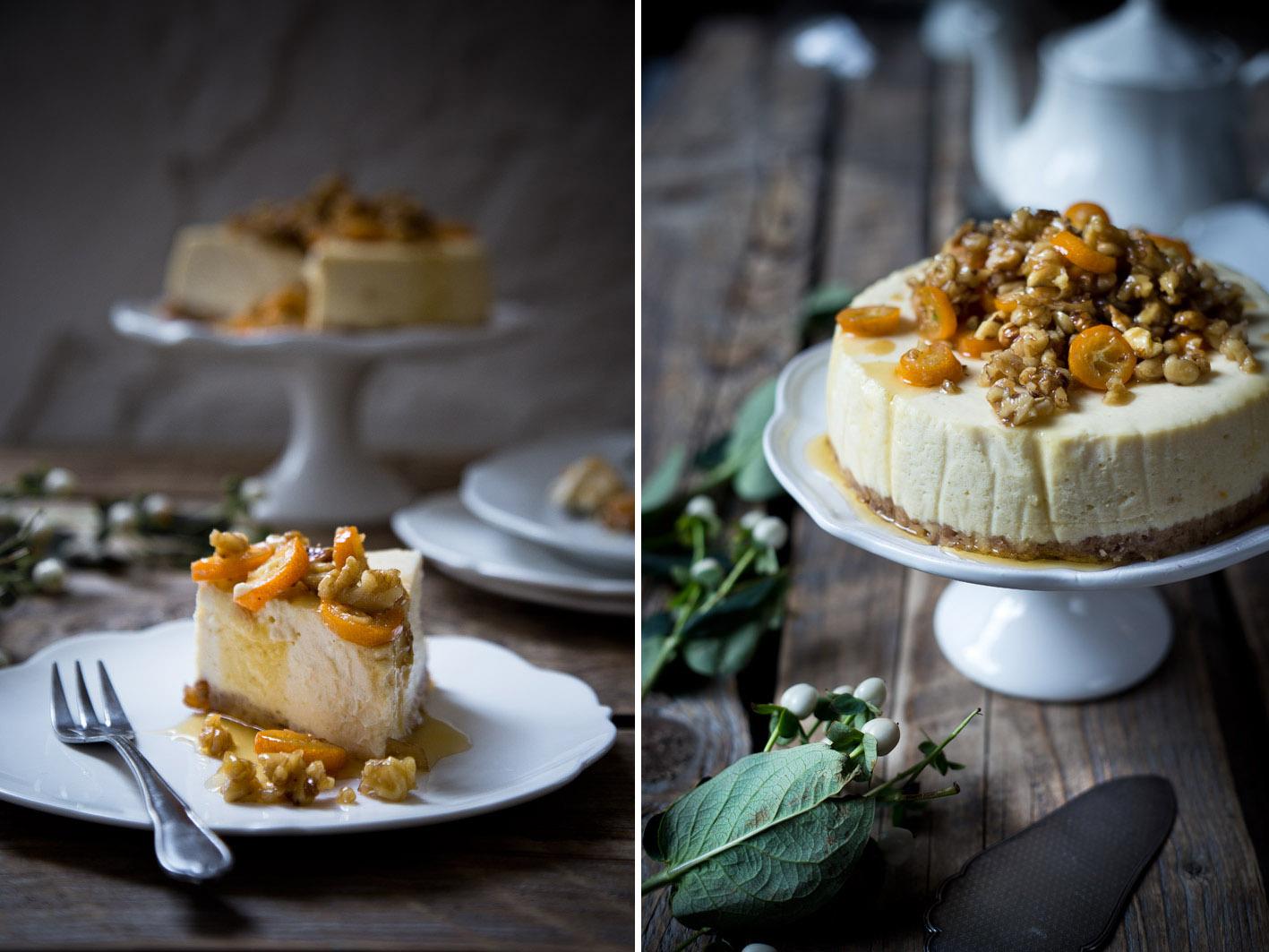 cheesecake mit ahornsirup