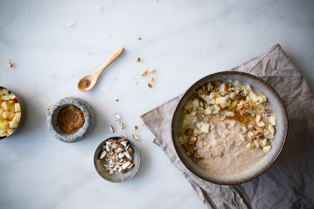 apfelkuchen smoothie bowl