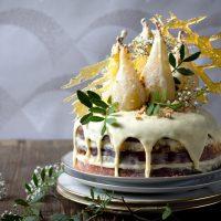 Köstliche Birnen Amarettotorte