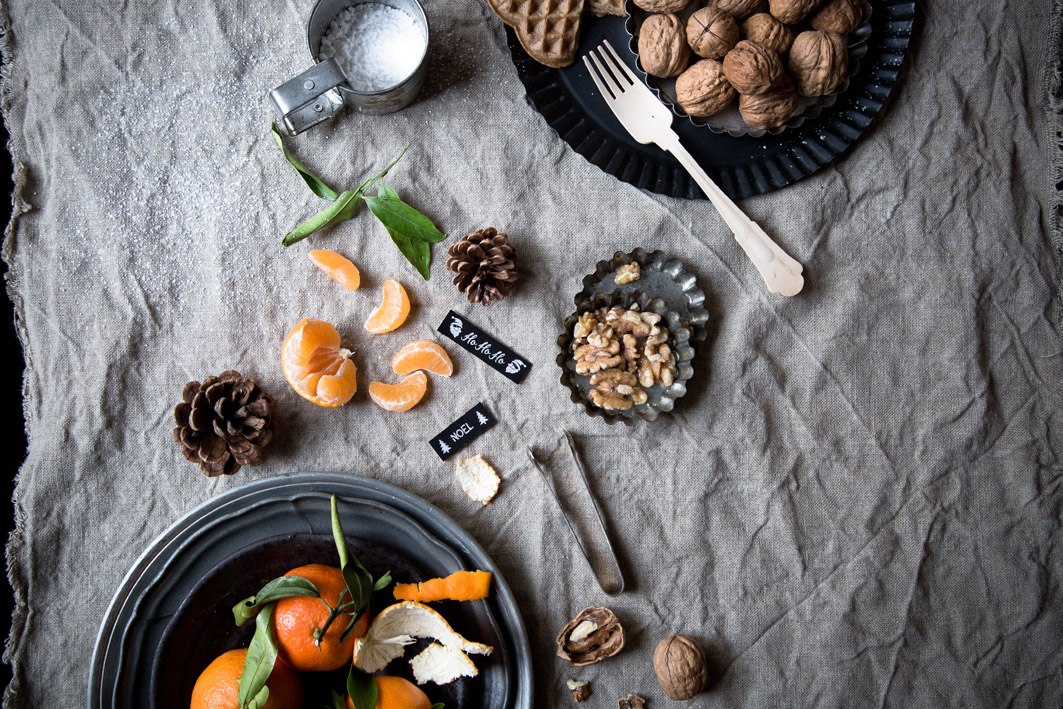 mandarinen und walnuesse