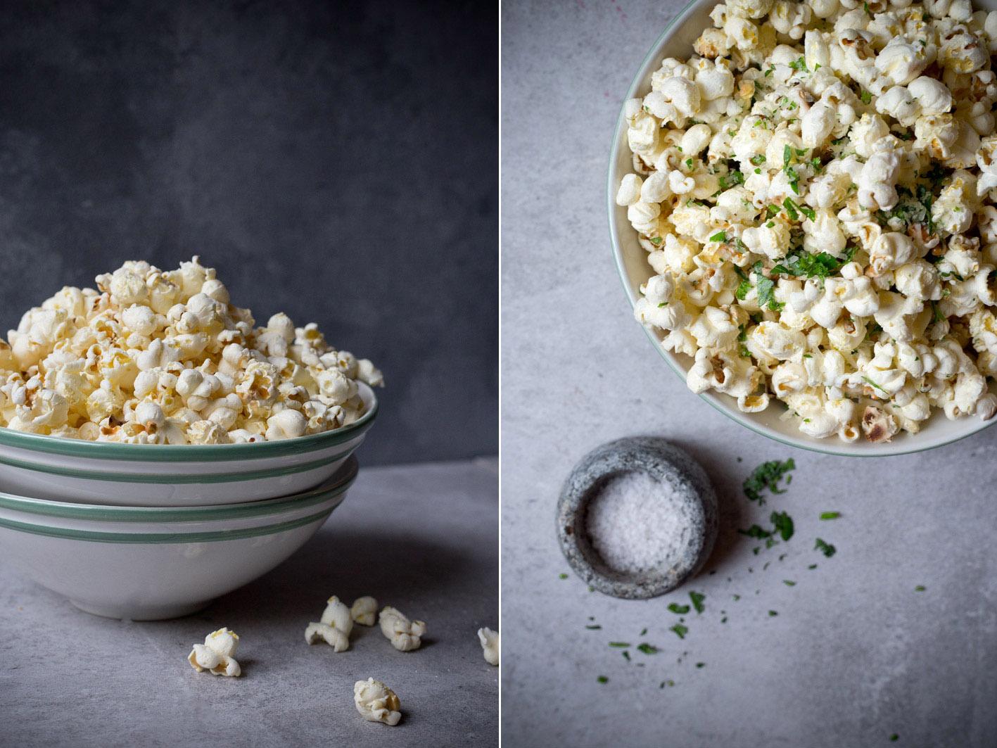 popcorn mit parmesan